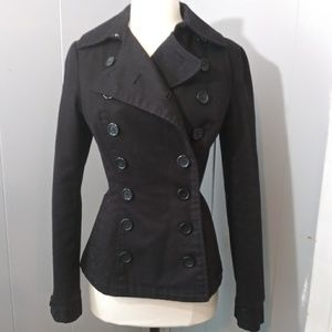 Black H&M Double Breasted Dress Coat Size 4